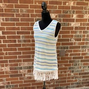 Tru Self Tunic Boho Sleeveless Top Macrame Bottom